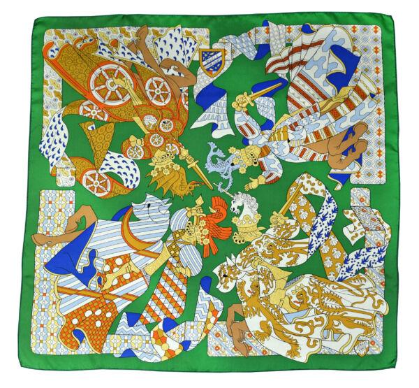 Foulard a foulard donna in pura seta fantasia multicolore