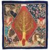 Foulard f foulard donna in pura seta fantasia multicolore