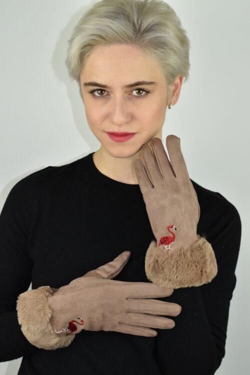 Glosay 1910 guanti donna beige