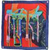 Foulard i foulard donna in pura seta fantasia multicolore