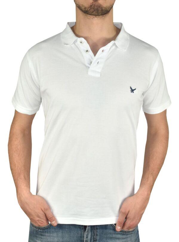 Prive bianco polo uomo vestibilità classica