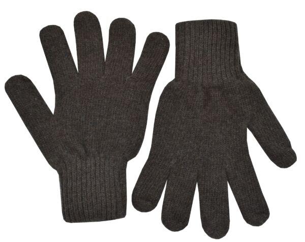 Gloves guanti unisex in puro cashmere marrone