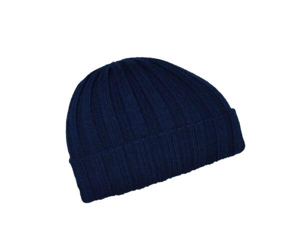 Wallis cappellino uomo tinta unita lavorazione a coste blu