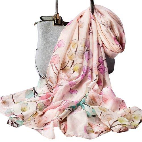 Sjsl035 foulard donna 100% seta dimensione 110x180 multicolore