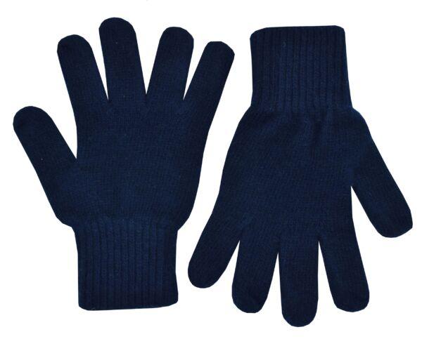 Gloves guanti unisex in puro cashmere navy