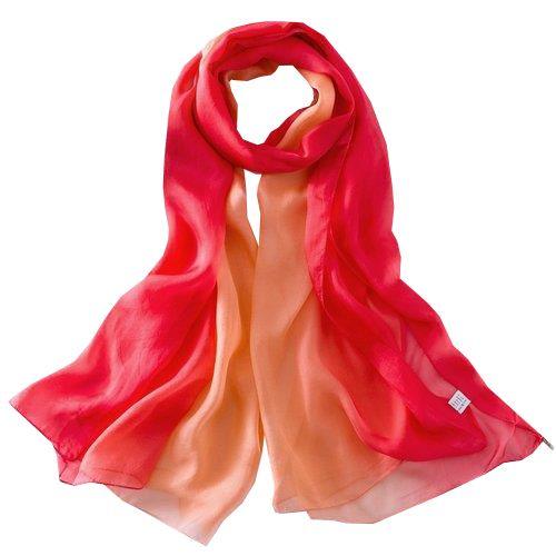 Sjsl112 foulard donna 100% seta dimensione 110x180 multicolore