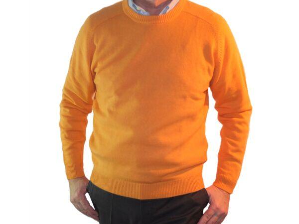1stamerican maglia girocollo 100% cashmere da uomo manica lunga raglan - regular fit
