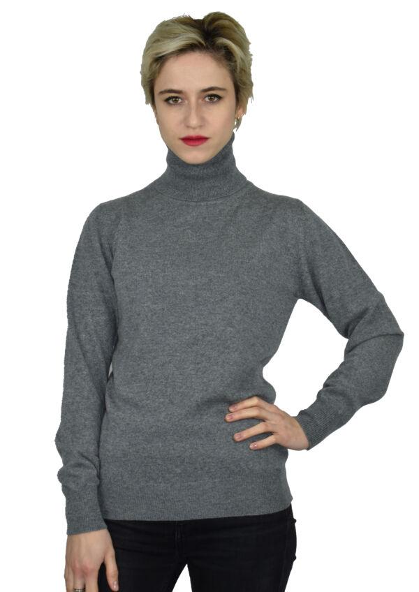 1stamerican maglia dolcevita 100% puro cashmere made in italy da donna - finezza 12