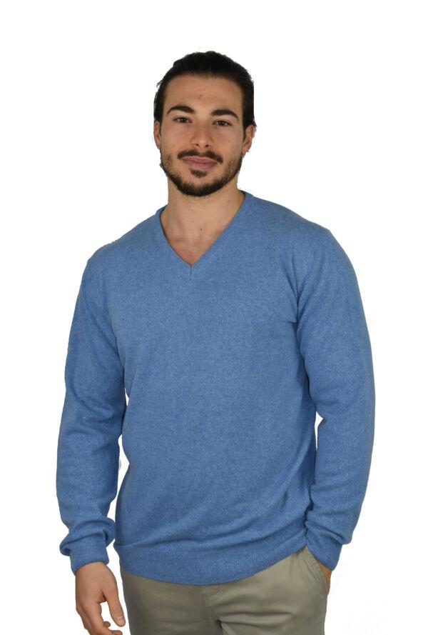 Maglia 1stamerican in cashmere blend con collo a v