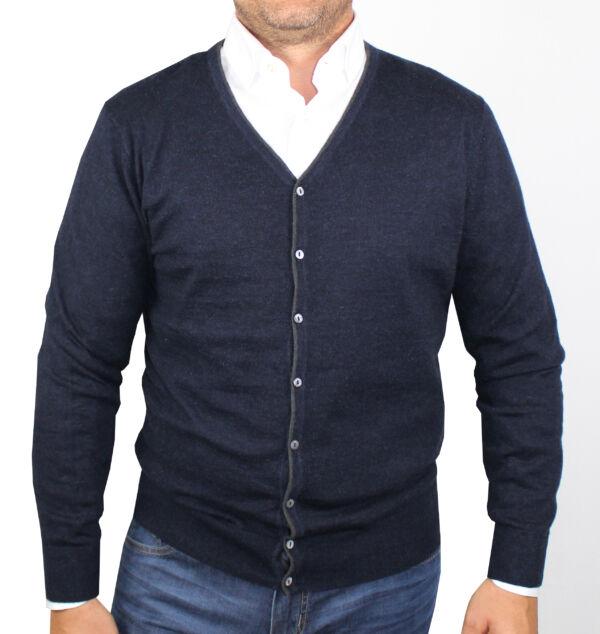 1stamerican cardigan uomo conn bottoni in seta cashmere  con manica lunga finezza 14