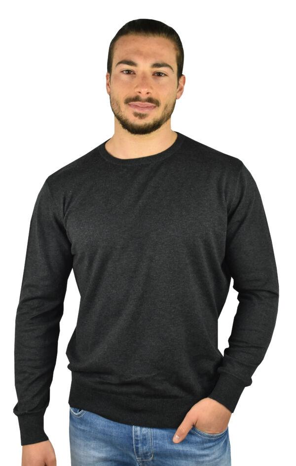 Mauro maglia 70% cotone 30% seta da uomo girocollo manica lunga finezza 14