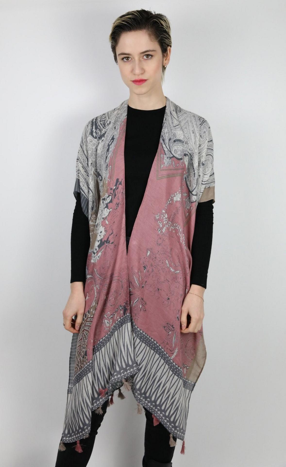 CLOTHES01 STOLA DONNA FOULARD CARDIGAN COPRISPALLE