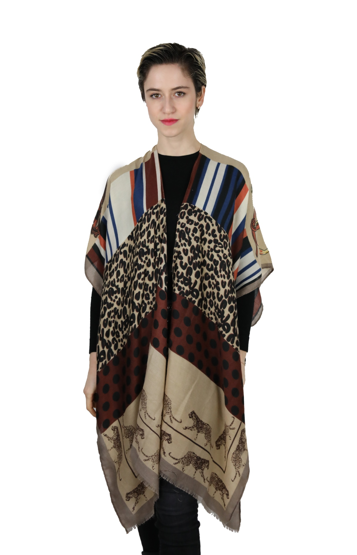 CLOTHES02 STOLA DONNA FOULARD CARDIGAN COPRISPALLE