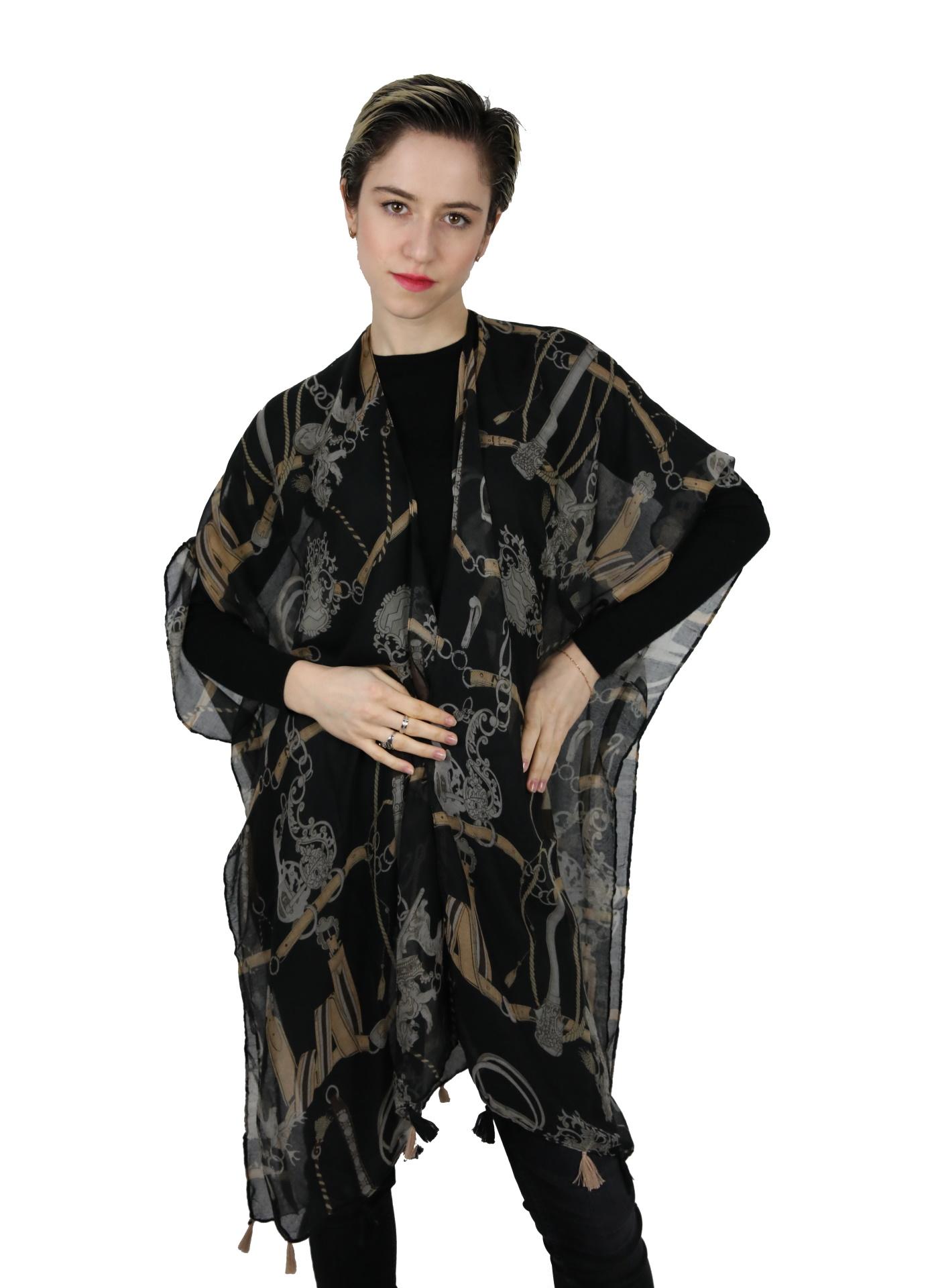CLOTHES08 STOLA DONNA FOULARD CARDIGAN COPRISPALLE