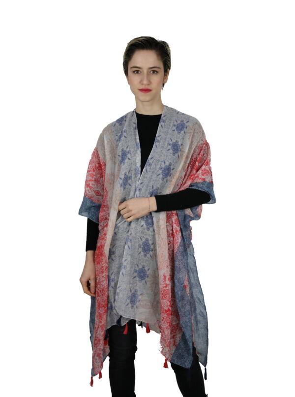 CLOTHES14 STOLA DONNA FOULARD CARDIGAN COPRISPALLE