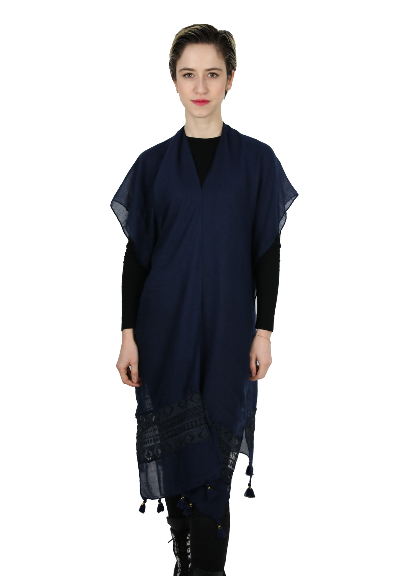 CLOTHES17/6 STOLA DONNA FOULARD CARDIGAN COPRISPALLE