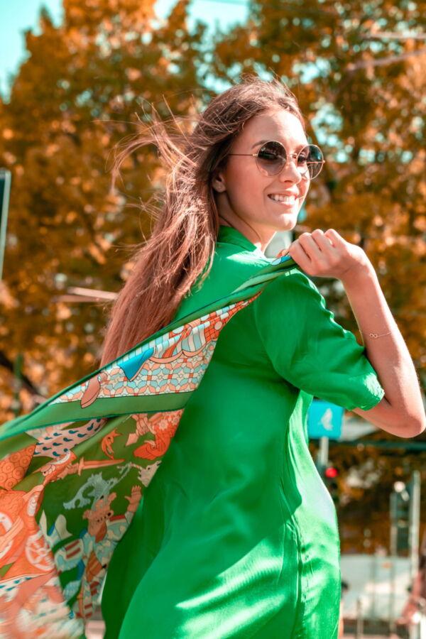 FOULARD A FOULARD SCIARPA DONNA 100 SETA 90CMX90CM 2 1stAmerican foulard/sciarpa 100% seta da donna 90cmx90cm