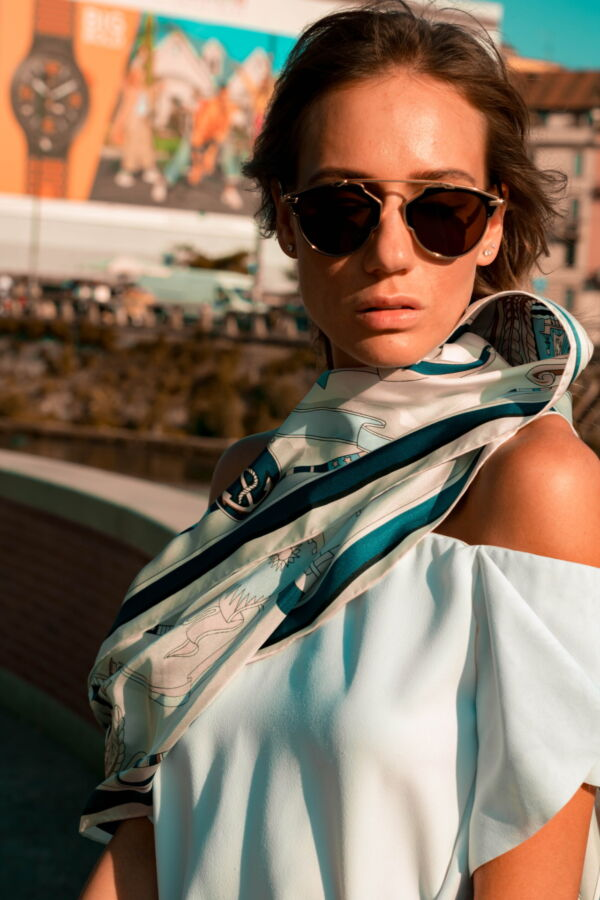 FOULARD B FOULARD SCIARPA DONNA 100 SETA 90CMX90CM 3 1stAmerican foulard/sciarpa 100% seta da donna 90cmx90cm