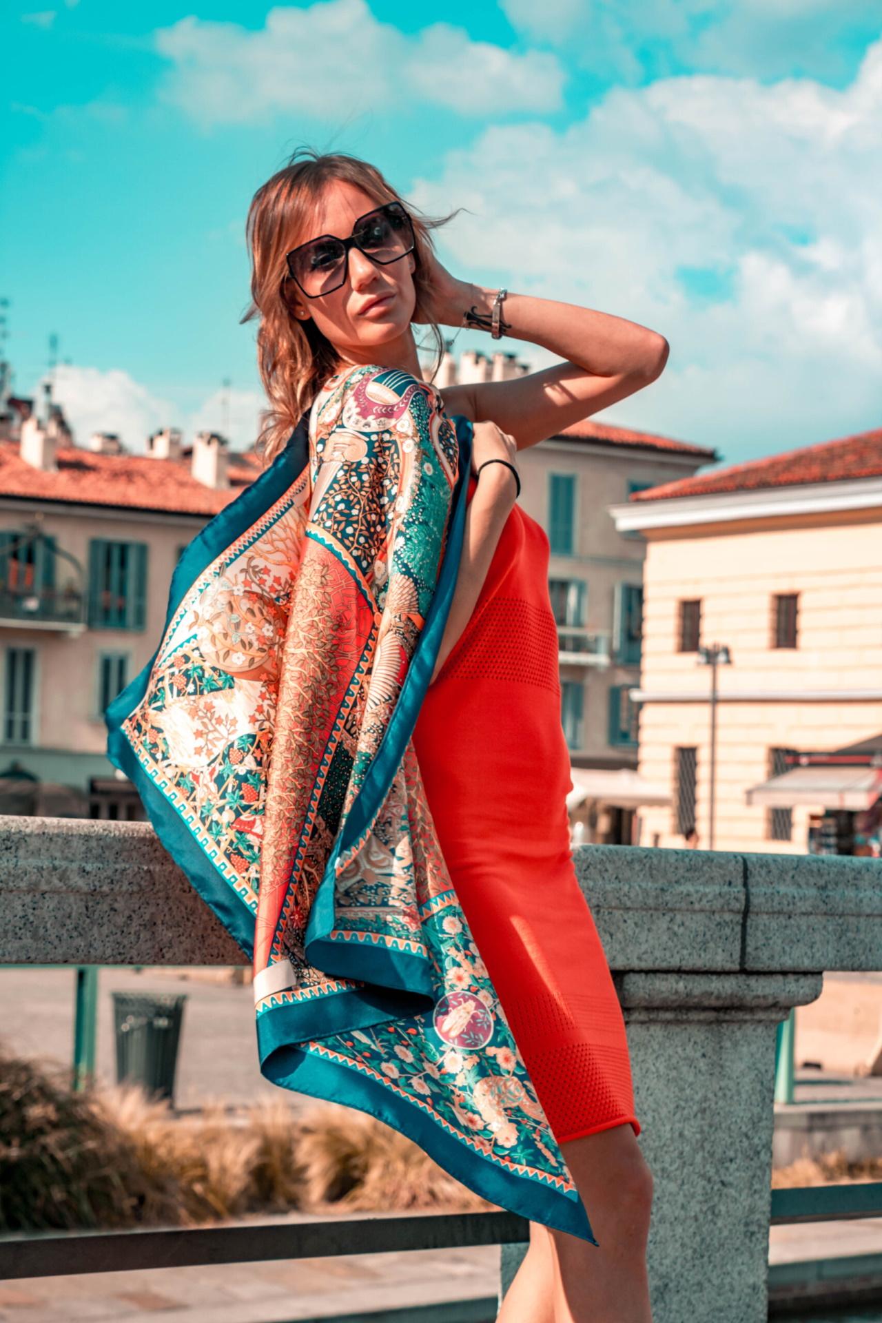 FOULARD F FOULARD SCIARPA DONNA 100 SETA 90CMX90CM 2 1stAmerican foulard/sciarpa 100% seta da donna 90cmx90cm