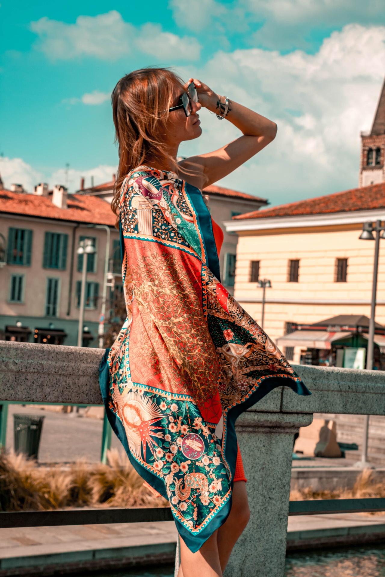 FOULARD F FOULARD SCIARPA DONNA 100 SETA 90CMX90CM 4 1stAmerican foulard/sciarpa 100% seta da donna 90cmx90cm
