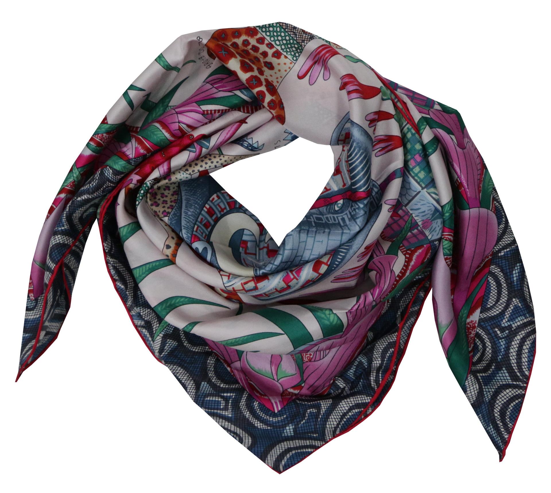 FOULARD H FOULARD SCIARPA DONNA 100 SETA 90CMX90CM 1 1stAmerican foulard/sciarpa 100% seta da donna 90cmx90cm
