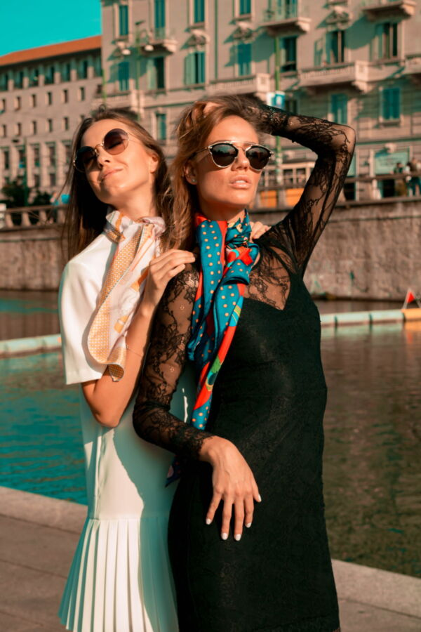 FOULARD I FOULARD SCIARPA DONNA 100 SETA 90CMX90CM 2 1stAmerican foulard/sciarpa 100% seta da donna 90cmx90cm