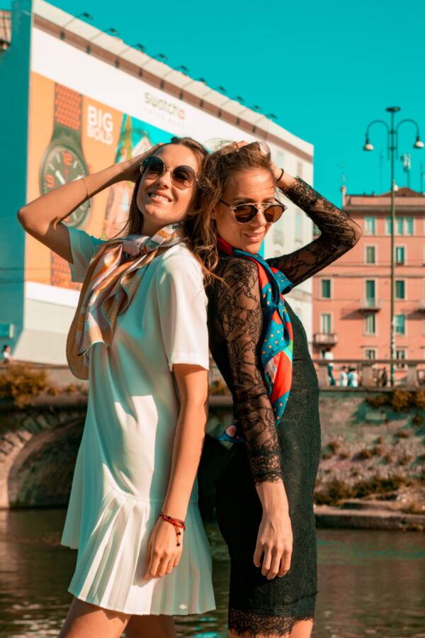FOULARD I FOULARD SCIARPA DONNA 100 SETA 90CMX90CM 4 1stAmerican foulard/sciarpa 100% seta da donna 90cmx90cm