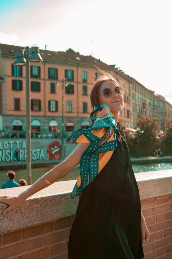 FOULARD L FOULARD SCIARPA DONNA 100 SETA 90CMX90CM 2 1stAmerican foulard/sciarpa 100% seta da donna 90cmx90cm