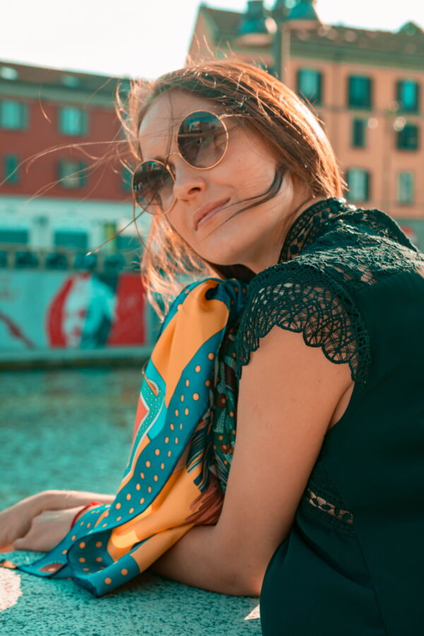 FOULARD L FOULARD SCIARPA DONNA 100 SETA 90CMX90CM 3 1stAmerican foulard/sciarpa 100% seta da donna 90cmx90cm