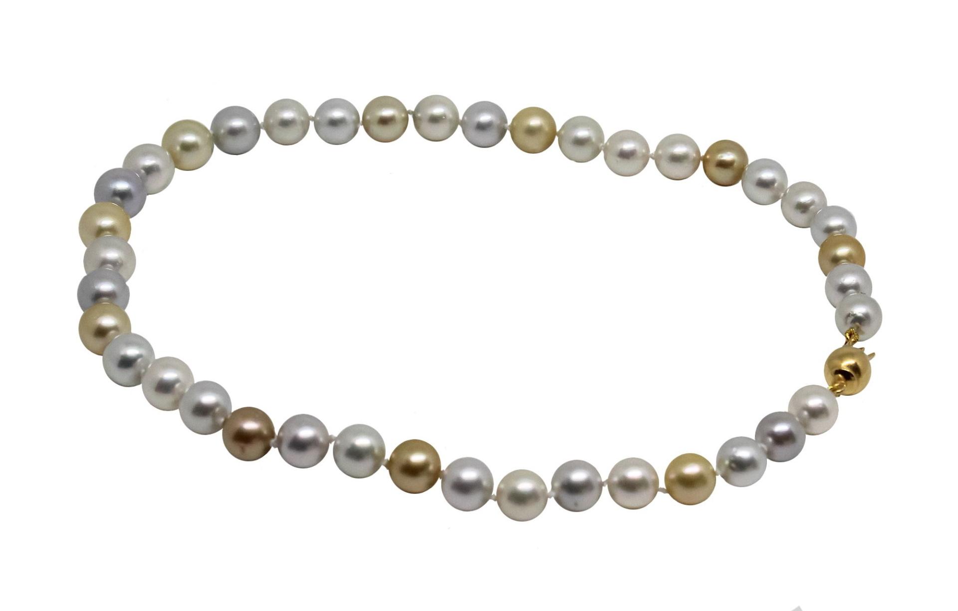 GEMSMU1155216 COLLANA DONNA 39 PERLE NATURALI MULTICOLORE 2 1stAmerican jewerly collana 39 perle naturali multicolore Ø9x118mm con chiusura in argento ag925