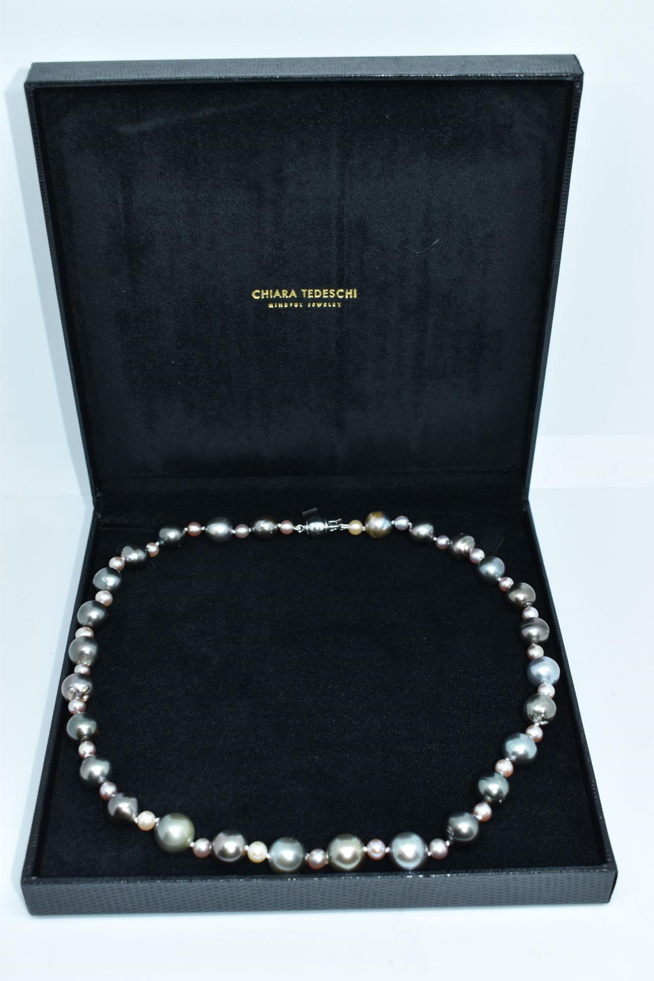 GEMSMU1303215 COLLANA DONNA 55 PERLE NATURALI MULTICOLORE 4 1stAmerican jewerly collana 55 perle naturali multicolore Ø12x135mm con chiusura in argento ag925