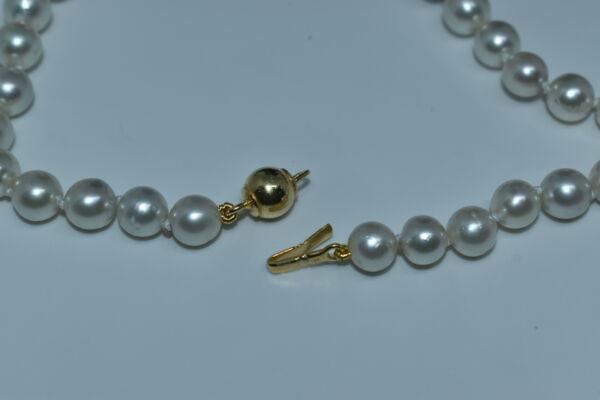 GEMSSS1044105 COLLANA DONNA 49 PERLE NATURALI DEI MARI DEL SUD 4 1stAmerican jewerly collana 49 perle naturali dei mari del sud Ø74x10mm con chiusura in argento ag925