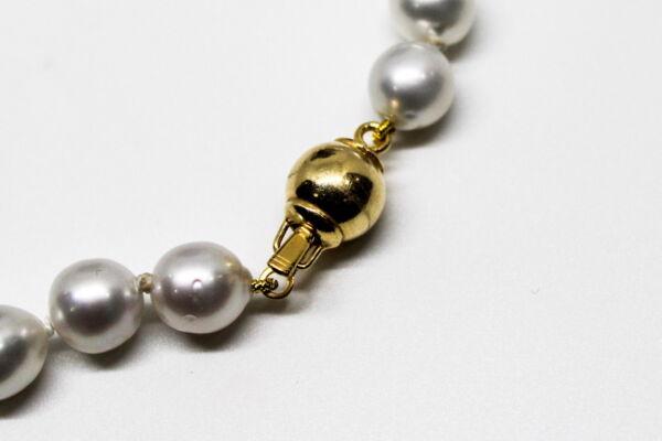 GEMSSS1143150 COLLANA DONNA 39 PERLE NATURALI DEI MARI DEL SUD 2 1stAmerican jewerly collana 39 perle naturali dei mari del sud Ø9x118mm con chiusura in argento ag92