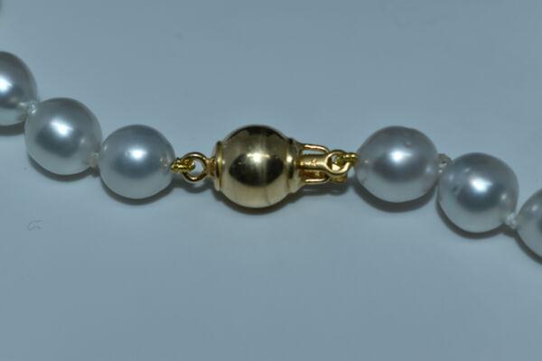 GEMSSS1143150 COLLANA DONNA 39 PERLE NATURALI DEI MARI DEL SUD 3 1stAmerican jewerly collana 39 perle naturali dei mari del sud Ø9x118mm con chiusura in argento ag92