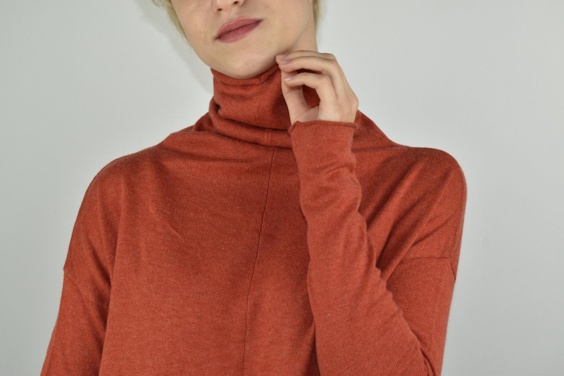 GIADA BRUCIATO MAGLIA DONNA CASHMERE SETA COLLO ALTO MANICA LUNGA 2 1stAmerican maglia dolcevita collo alto da donna in seta cashmere - maglione manica lunga invernale finezza 14