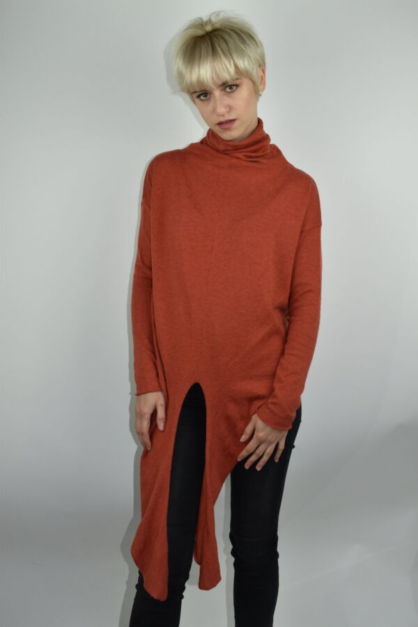 GIADA BRUCIATO MAGLIA DONNA CASHMERE SETA COLLO ALTO MANICA LUNGA 4 1stAmerican maglia dolcevita collo alto da donna in seta cashmere - maglione manica lunga invernale finezza 14