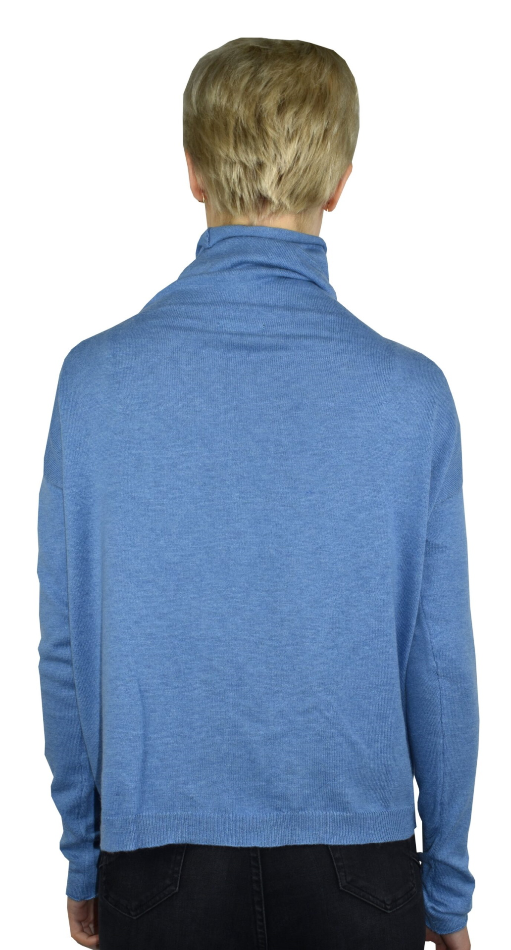 GIADA CELESTE MAGLIA DONNA CASHMERE SETA COLLO ALTO MANICA LUNGA 1 1stAmerican maglia dolcevita collo alto da donna in seta cashmere - maglione manica lunga invernale finezza 14
