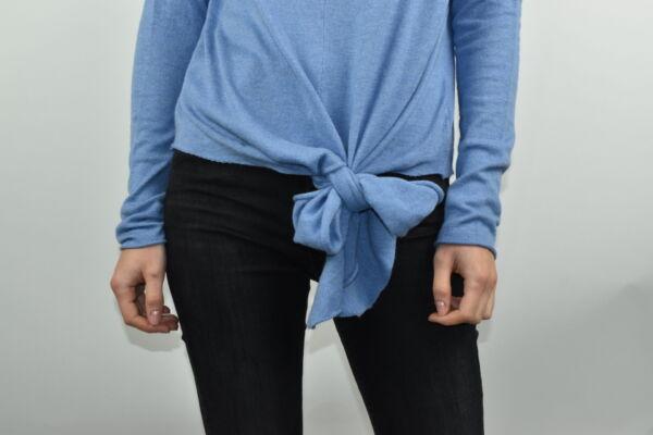 GIADA CELESTE MAGLIA DONNA CASHMERE SETA COLLO ALTO MANICA LUNGA 3 1stAmerican maglia dolcevita collo alto da donna in seta cashmere - maglione manica lunga invernale finezza 14
