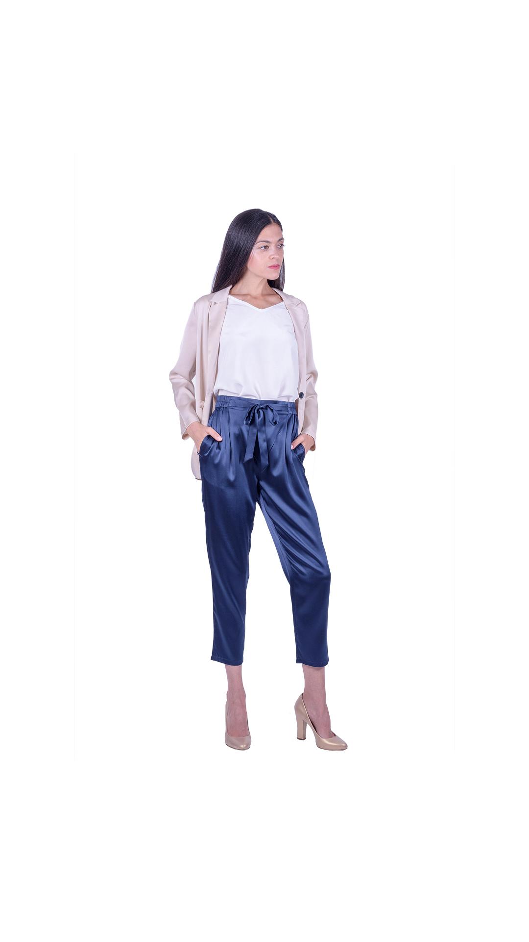 GIASILK01 BEIGE GIACCA DONNA MANICA LUNGA 2 1stAmerican giacca da donna 100% pura seta manica 3/4 - elegante camicia in seta da donna