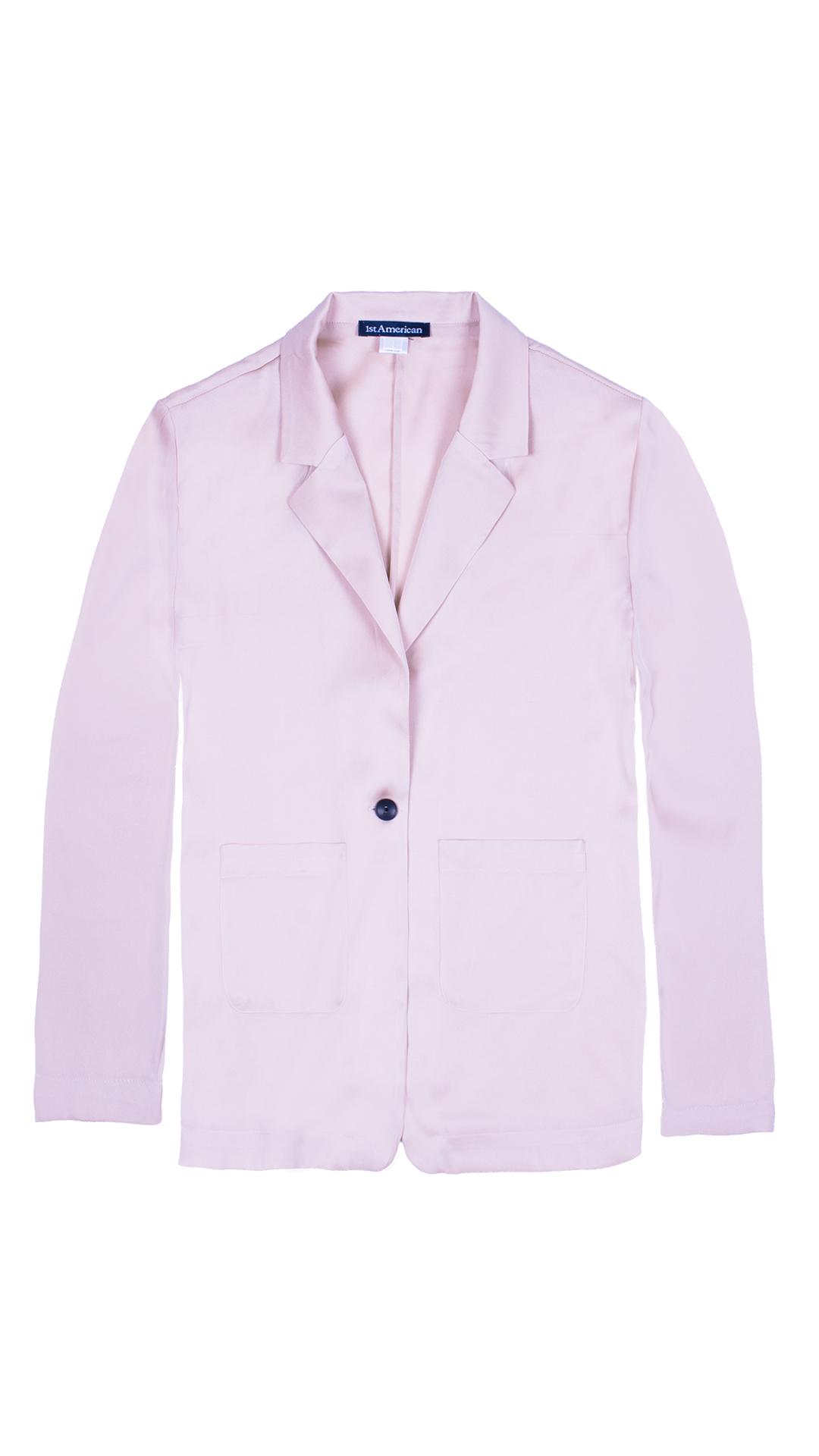GIASILK01 BEIGE GIACCA DONNA MANICA LUNGA 3 1stAmerican giacca da donna 100% pura seta manica 3/4 - elegante camicia in seta da donna