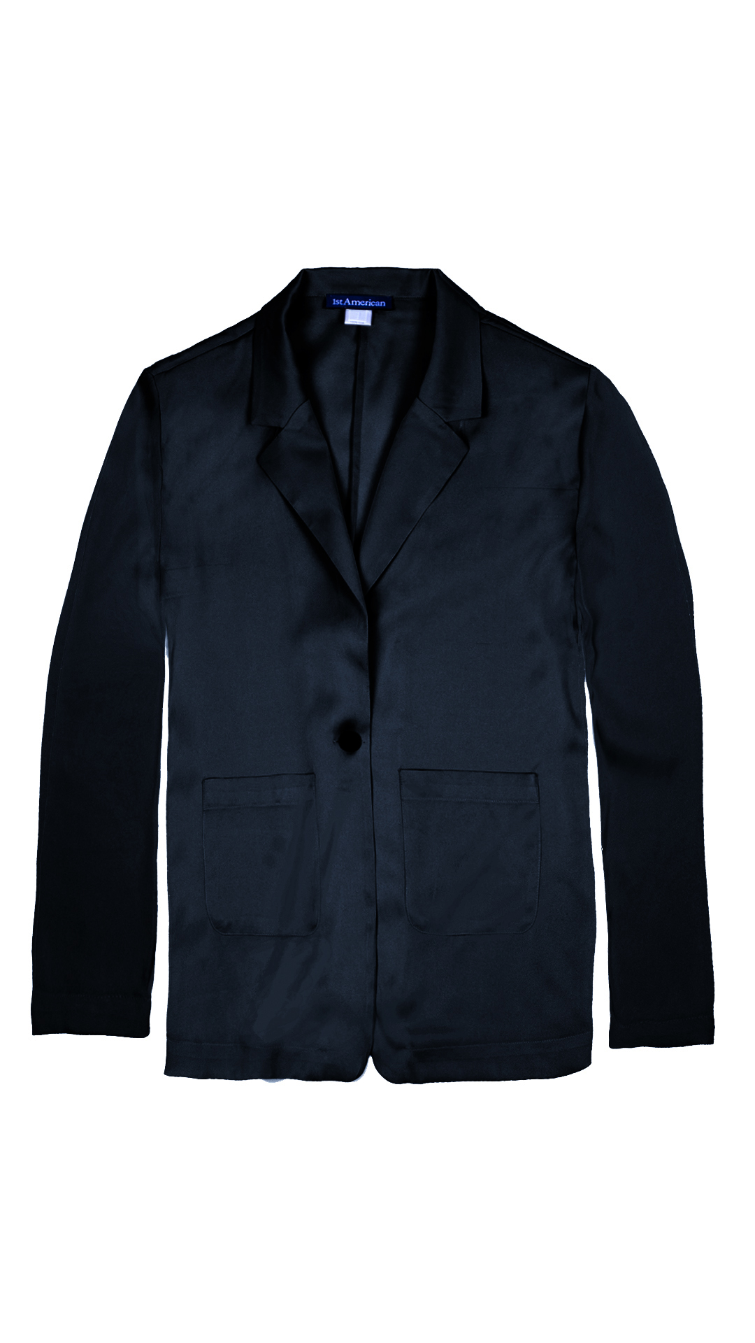 GIASILK01 NERO GIACCA DONNA MANICA LUNGA 3 1stAmerican giacca da donna 100% pura seta manica 3/4 - elegante camicia in seta da donna