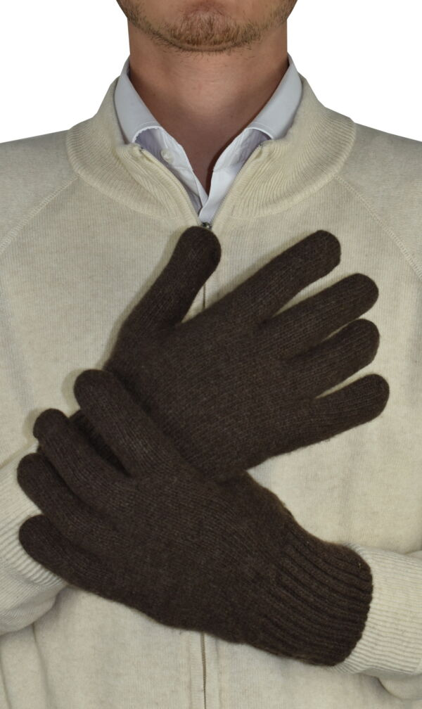 GLOVESMIXDARIO MORO GUANTI UOMO IN CASHMERE E LANA 1 1stAmerican guanti in lana e cashmere da uomo Made in Italy - caldi guanti invernali