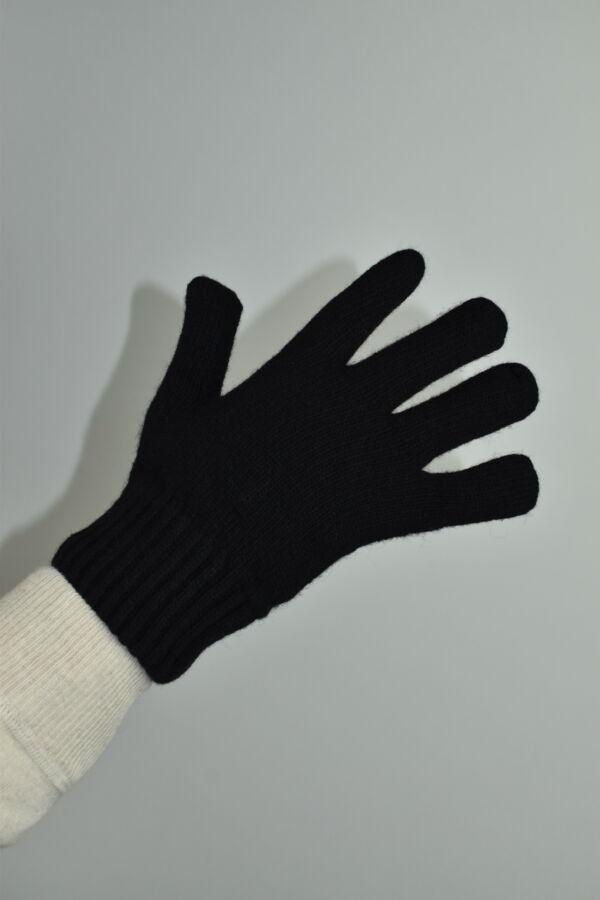 GLOVESMIXDARIO NERO GUANTI UOMO IN CASHMERE E LANA 2 1stAmerican guanti in lana e cashmere da uomo Made in Italy - caldi guanti invernali