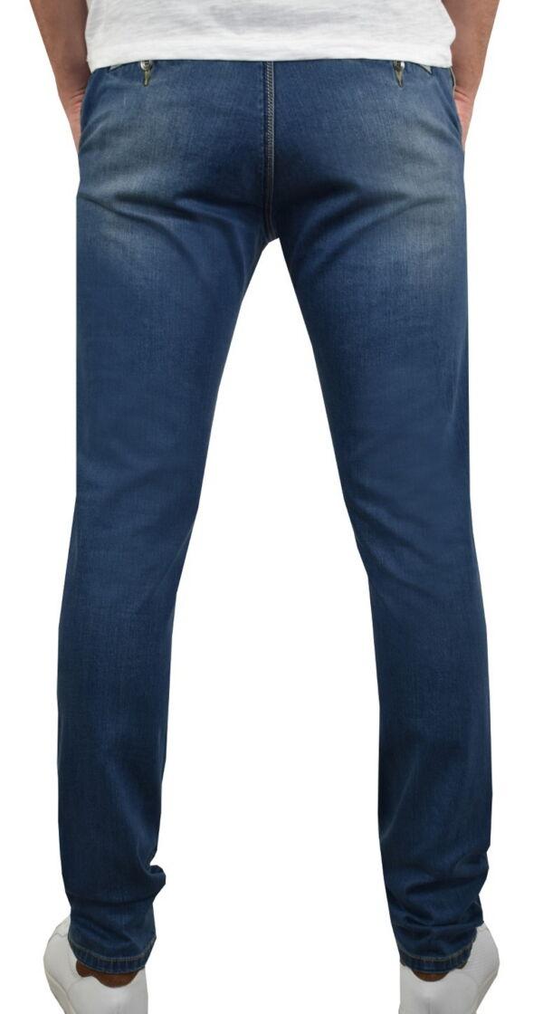 GLOW JEANS UOMO MODELLO CHINO BLU DENIM 1 1st american jeans modello chino uomo colore blu denim - 99% cotton 1% elastan denim 10oz