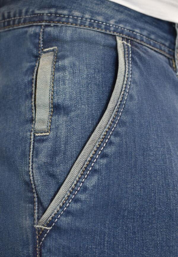 GLOW JEANS UOMO MODELLO CHINO BLU DENIM 2 1st american jeans modello chino uomo colore blu denim - 99% cotton 1% elastan denim 10oz