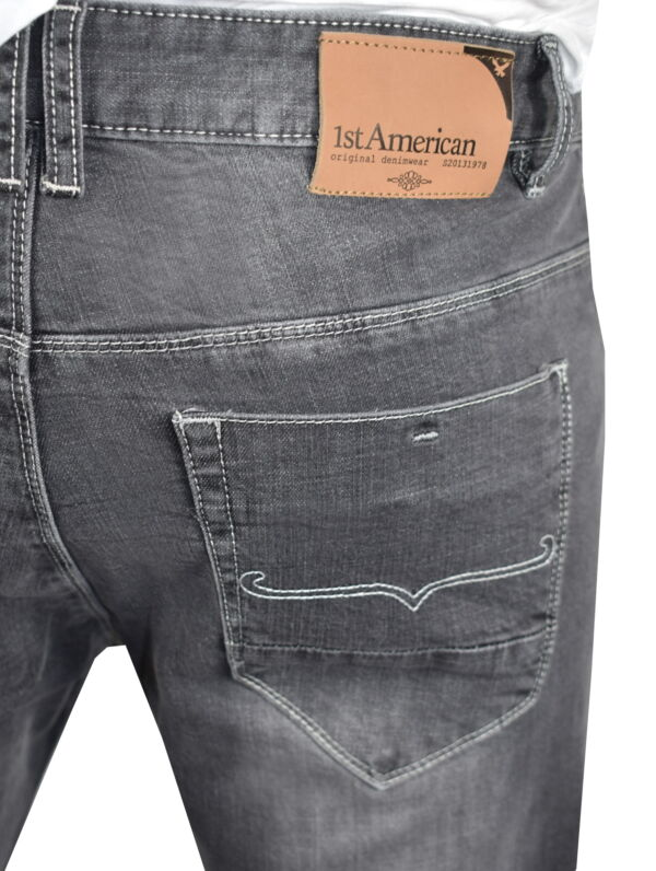 GREY JEANS UOMO 5 TASCHE GRIGIO CHIARO 4 1st american jeans fashion 5 tasche uomo colore grigio - 99% cotton 1% elastan denim 1150 oz