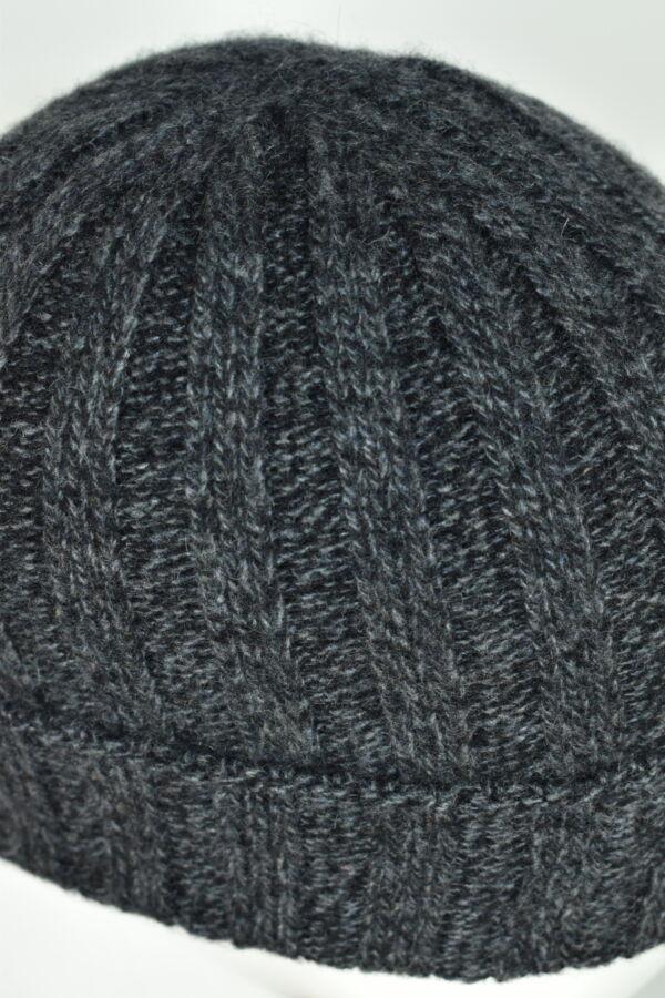 HENRYDARIO ANTRACITE CAPPELLINO UOMO 100 PURO CASHMERE 3 1stAmerican cappellino 100% puro cashmere Made in Italy da uomo - caldo berretto invernale a coste larghe