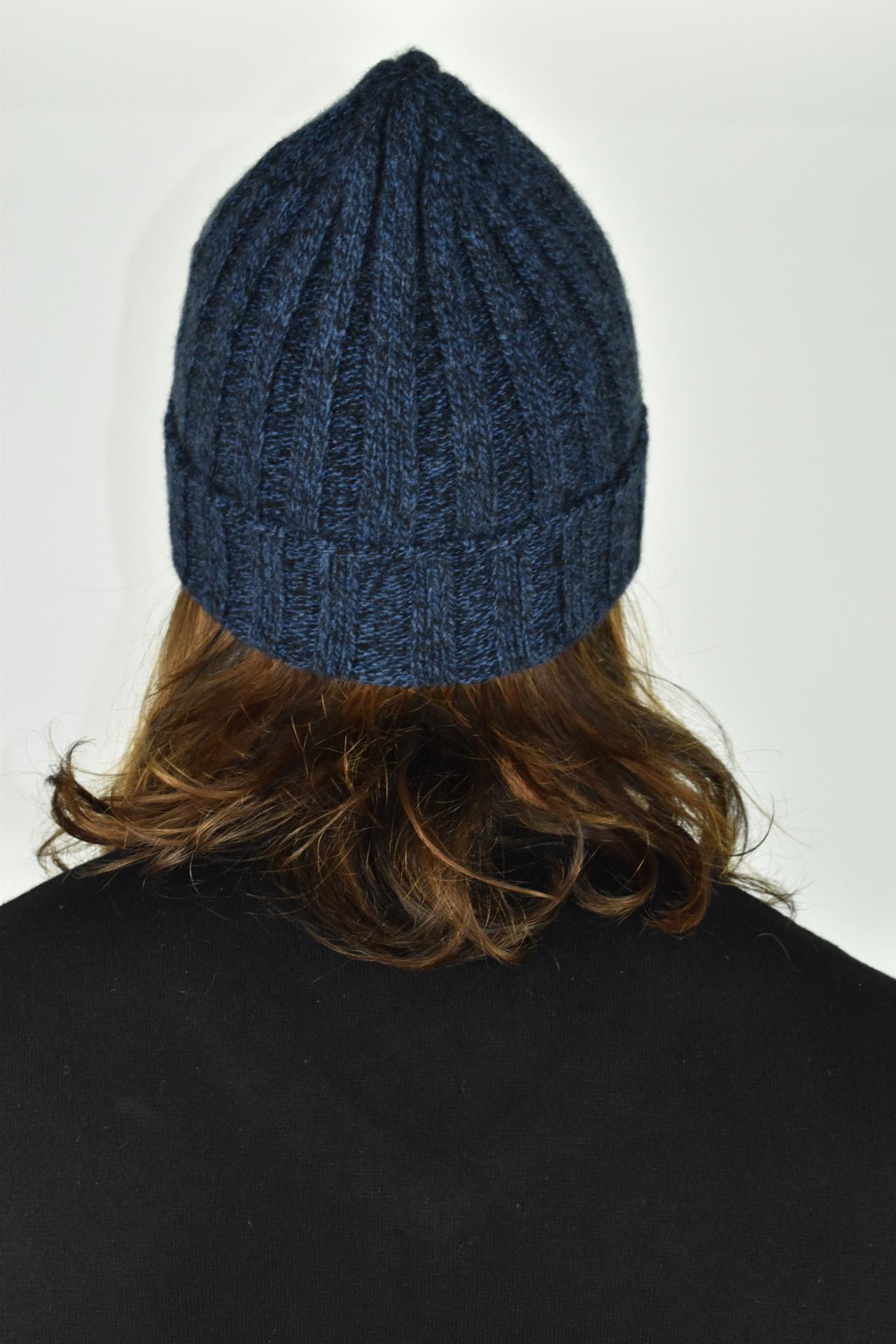 HENRYDARIO BLU CAPPELLINO UOMO 100 PURO CASHMERE 2 1stAmerican cappellino 100% puro cashmere Made in Italy da uomo - caldo berretto invernale a coste larghe