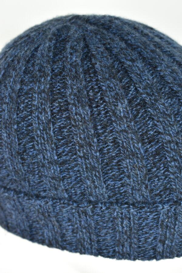 HENRYDARIO BLU CAPPELLINO UOMO 100 PURO CASHMERE 3 1stAmerican cappellino 100% puro cashmere Made in Italy da uomo - caldo berretto invernale a coste larghe