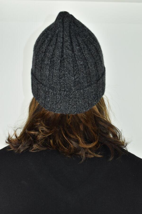 HENRYDARIO GRIGIO CAPPELLINO UOMO 100 PURO CASHMERE 2 1stAmerican cappellino 100% puro cashmere Made in Italy da uomo - caldo berretto invernale a coste larghe
